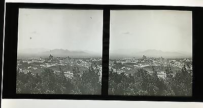 Stereo Glass Dispositive Panoramic view in Europe C1860