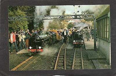 ROMNEY HYTHE & DYMCHURCH loco TYPHOON & SAMSON at HYTHE- Commercial P/C -UNUSED