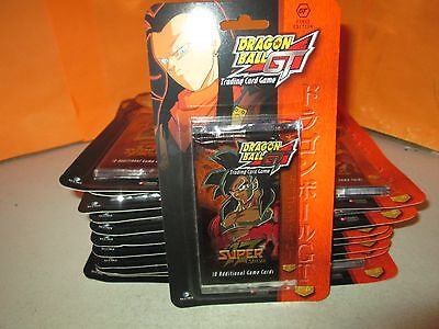 Lot of 20 Dragon Ball GT Super 17 Blister Packs Unopened 10 Cards/Pack