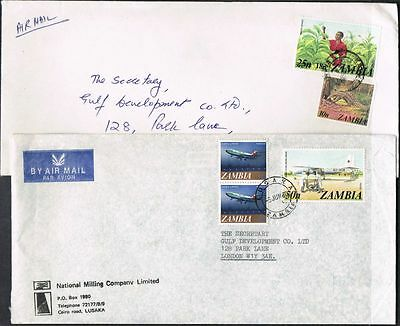 Zambia 1980. 2 x Airmail covers to UK.