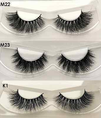 Lilly Kylie Looks 100% Real 3D Mink Lashes Thick Strip Party False EyeLashes