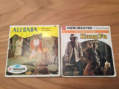 View-master, Ali Babar And The 40 Thieves B436 And Kung Fu B598