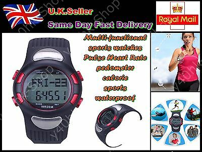 Multi-functional sports watches/Pulse Heart Rate/Pedometer/calorie/waterproof
