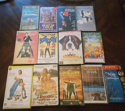 Vhs Films 13 Plus 9 Pre Recorded Vhs Tapes And 1 New Packaged Tape
