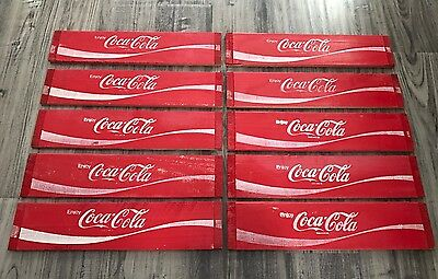 10 Vintage NOS Coke Coca Cola Wood Soda Pop  Crate Panel Sides
