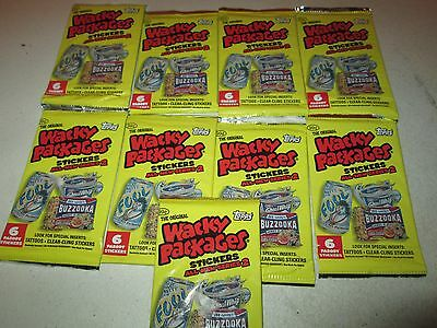 2005 Topps Wacky Packages Stickers Lot of 9 Sealed Packs