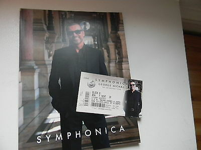 George Michael Symphonica Tour Programme & Complete Ticket From Manchester 2011