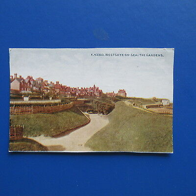 Old Postcard of Westgate-on-Sea, the Gardens.