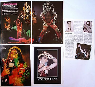 Alice Cooper Miniposter / Cutting / Clipping / Pin Up From  Rock Magazines
