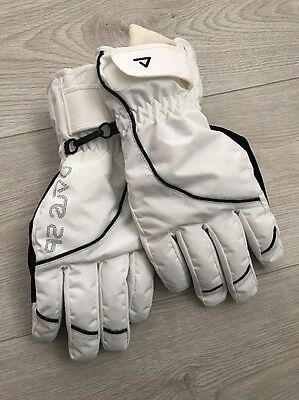Dare2b white ladies ski gloves size S/M