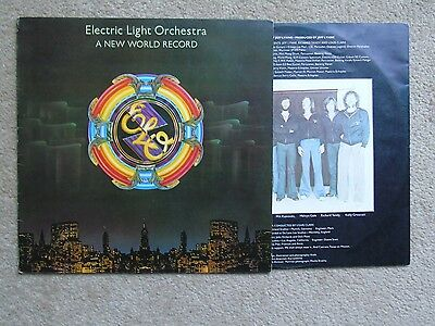 1976 Uk Jet Lp Electric Light Orchestra A New World Record