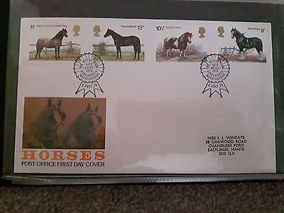 Stamps. first day covers. horses 1978