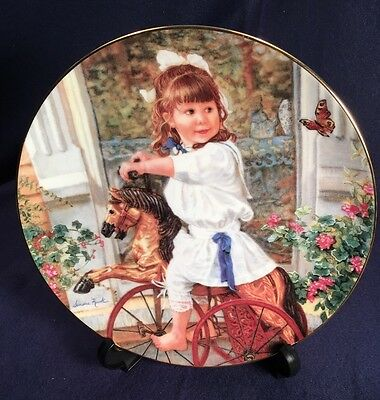 """Sandra Kuck Collector Plate """"Me & My Pony"""" 8th Issue Hearts & Flowers 1993 Reco"""