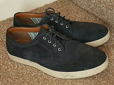 MENS CLARKS SHOES SIZE 8 G FITTING LACE UP BROGUE SUEDE Extra Light