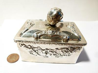 Antique Continental Silver or Plated Box ? UNIDENTIFIED #T454A