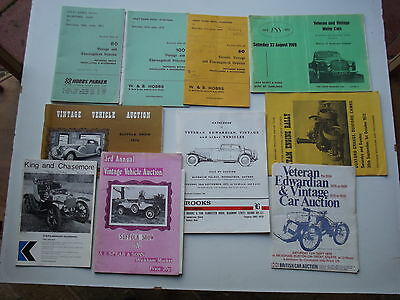 Assorted Veteran Vintage PVT Vehicle Sales illustrated Catalogues 1965/72