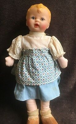 "Antique 11""in. Georgene DOLL"