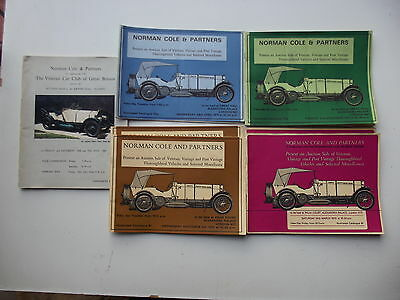 Norman Cole Veteran Vintage PVT Vehicle Sales illustrated Catalogues 1969/71