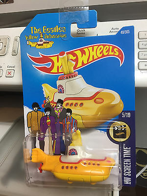 Hotwheels dicast THE BEATLES YELLOW SUBMARINE 1:64 Scale 49/365 - NEW & Sealed