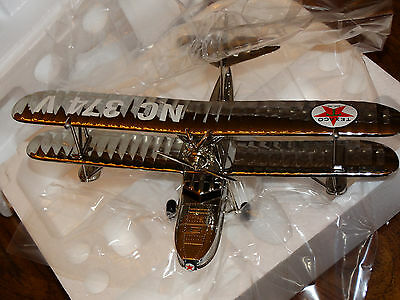 Wings of Texaco Chrome The Duck Airplane Bank DieCast ERTL MIB Special Ed 2000