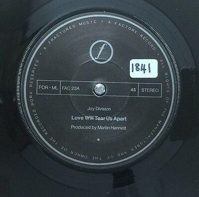 "JOY DIVISION-Love Will Tear Us Apart-7"" 45rpm Record-FAC23-1980"