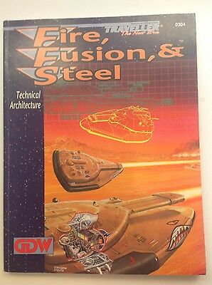 Traveller the new era GDW supplement Fire Fusion & Steel classic sci fi rpg