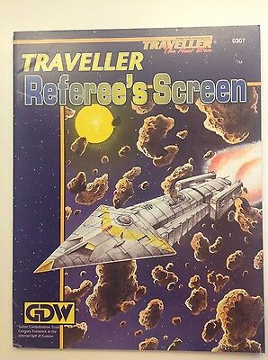 Traveller the new era GDW Game aid Referee's Screen classic sci fi rpg