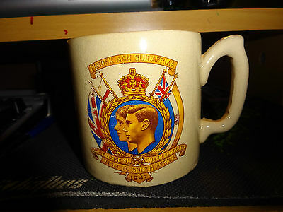 Royal Visit To South Africa 1947 By King George VI & Queen Elizabeth Pottery Mug