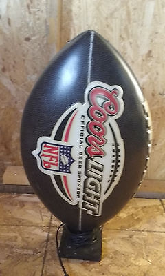 Coors Beer Wall Light  Sign NFL football shap sign does not light up