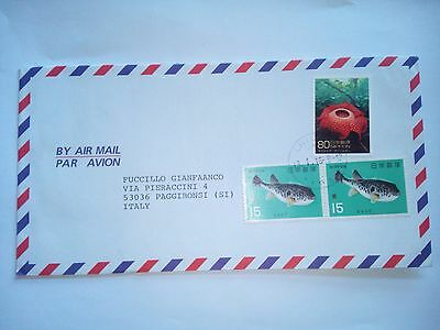 Nippon Japan Giappone Stamped Cover Air Mail To Italy Stamps
