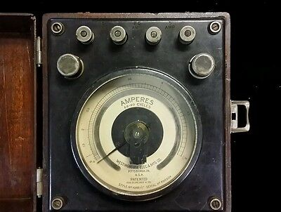 """Early Westinghouse 300 degree ac Amperes Meter 25-60 Cycles Ammeter 4-7/8"""""""