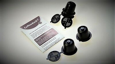 4 capsules COFFEEDUCK rechargeable compatible nespresso - NEUF