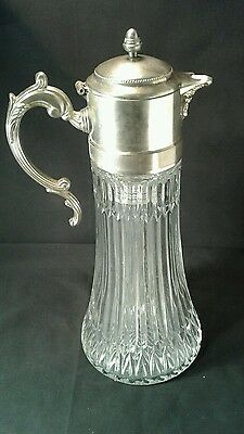antique pitcher carafe with ice chamber