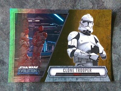 2016 Topps STAR WARS EVOLUTION Trading Cards - CLONE TROOPER Gold #'d 10/50