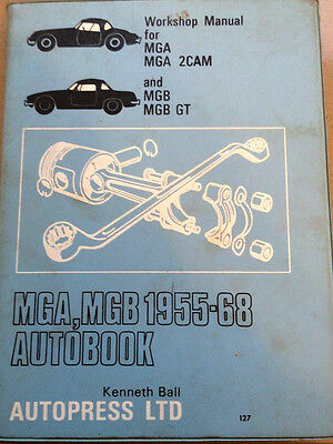 Mg and MGB Autobook Owners Workshop Manual - Rare