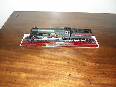 """Collectable Model Train- King Class Gwr -- On Wooden Plinth- 9"""" Long"""