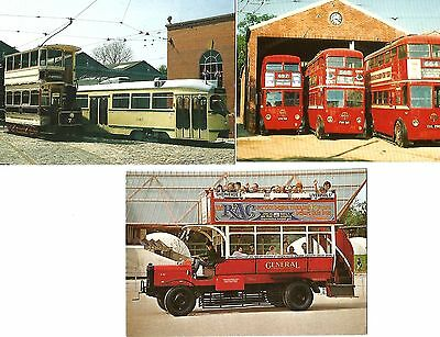 Public Transport Postcards. Bus. Tram & Trollybuses