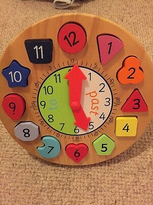ELC Wooden Teach The Time Clock With Moving Hands