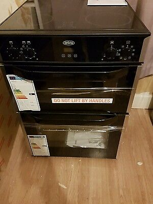 Belling FSE60DO 60cm Electric Ceramic Double Oven Cooker STAINLESS STEEL