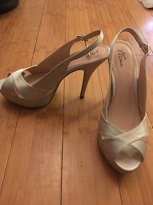 silver wedding shoes size 5