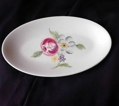 'Handpainted' Abstract Floral Design Plate by Samuel Radford