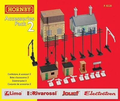 Hornby Model Railway Train Set Trakmat Scenery Accessories Pack 2 OO Gauge NEW