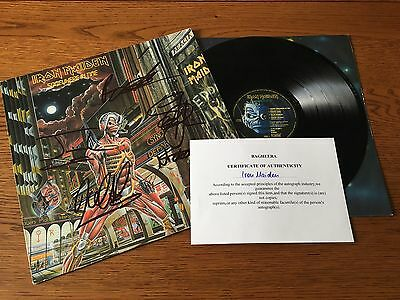 Iron Maiden Somewhere In Time '86 French / FRANCE *SIGNED* LP Album Vinyl Record