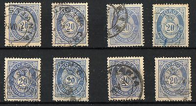 Small Selection Of 20 Mm Blue Posthorn Issues