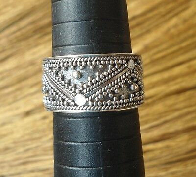 925 Sterling Silver-LH95-Balinese Handcrafted Ring Size 9