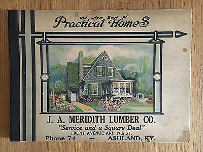 1925 Practical Homes Meridith Lumber Co Ashalnd Kentucky Vintage Plans Book 112p