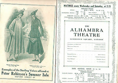 Alhambra Theatre Programme The Bing Boys Are Here 1916