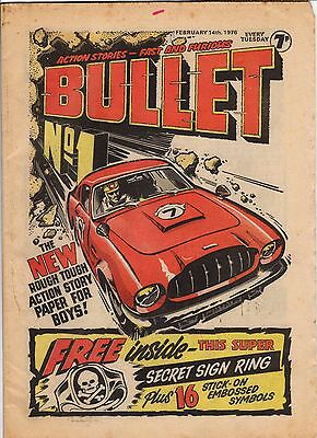 bullet Issues No.1 to 4 UK COMICS  Great Condition