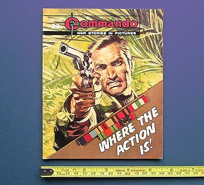 Commando - Where The Action Is  DC Thomson 1984