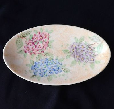 Floral 'Handpainted' Oval Plate by Samuel Radford